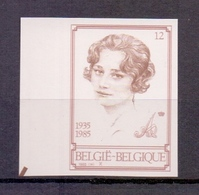 2183 Koningin Astrid ONGETAND POSTFRIS** 1985 - Belgien