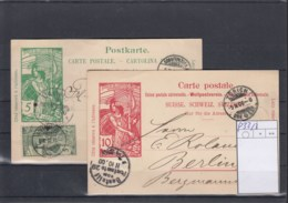 Schweiz Michel Cat.No. Postal Stat Used P32/33 - Entiers Postaux