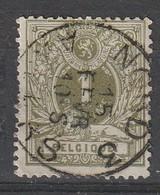 COB N°  42 Oblitération AMBULANT NORD 3 ANVERS / DEFAUT - 1869-1888 Lion Couché