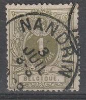 COB N°  42 Oblitération NANDRIN - 1869-1888 Liggende Leeuw