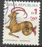 PIA - REP.CECA  - 1998 - Segni Dello Zodiaco : Capricorno - (Yv 192) - Repubblica Ceca