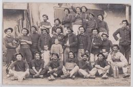 ALBERTVILLE (?) Carte-photo Militaire Du 22 E BCA Bataillon De Chasseurs Alpins 5e Compagnie 1ère Section Cor De Chasse - Albertville
