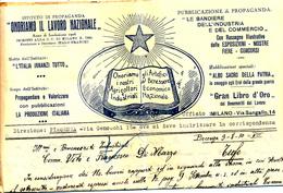 1930 PIACENZA DC + ONORIAMO IL LAVORO NAZIONALE BUSTA PUBBLICITARIA CON TESTO - Storia Postale