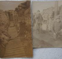 Photo ABL 1914-18 Soldats Belges En Tranchée WW1 IJZER Yser Belgian Army Militaria Belgische Leger - Guerre, Militaire