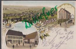 LITHOGRAPHIE: Gruss Aus RAMSEN, Um 1903, Ortsansicht, Pfarrhaus, Gasthaus - Bad Duerkheim