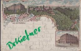 LITHOGRAPHIE: Gruss Aus TRIPPSTADT Und Dem Karlstal, Pfalz, Um 1900,  Wilenburg, Waldbauschule, Gasthaus Zur Post - Kaiserslautern