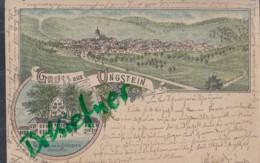 LITHOGRAPHIE: Gruss Aus UNGSTEIN, Pfalz, Um 1898,  Ortsansicht, Gasthaus Von L. Schlosser - Bad Duerkheim