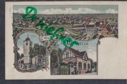 LITHOGRAPHIE: Gruss Aus UNGSTEIN, Pfalz, Um 1912,  Ortsansicht, Kirche, Winzer-Verein - Bad Duerkheim