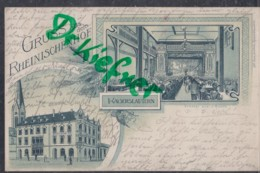 LITHOGRAPHIE: Gruss Aus Dem Rheinischenhof In KAISERSLAUTERN, Pfalz, Um 1900, Großer Saal - Kaiserslautern