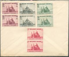 N°481/3 - Timbres De La Série BASILIQUE  De KOEKELBERG (paires) Au Verso D'une Lettre De GAND Le1-4-1942 Vers Anvers - L - Briefe U. Dokumente