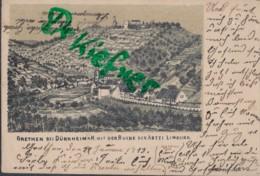 LITHOGRAPHIE; GRETHEN Bei Dürkheim A.H. Mit Ruine Limburg, Pfalz, Um 1903 - Bad Duerkheim