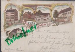 LITHOGRAPHIE; Gruss Aus IXHEIM, Pfalz, Um 1900, Schule, Fabrik, Bierhalle, Birkhausen, Stallgebäude - Zweibruecken