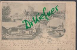 LITHOGRAPHIE; Gruss Vom KURHAUS HOLLER, Bad Bergzabern, Pfalz, Um 1895, Ansicht In 3 Bildern - Bad Bergzabern