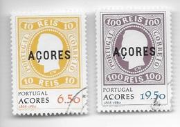 TIMBRES - STAMPS - SELLOS - FRANCOBOLLI - PORTUGAL (AÇORES) - 1980 - SÉRIE AVEC TIMBRES OBLITÉRÉS - 1910-... Republic