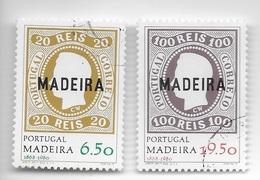 TIMBRES - STAMPS - SELLOS - FRANCOBOLLI - PORTUGAL (MADEIRA) - 1980 - SÉRIE AVEC TIMBRES OBLITÉRÉS - 1910-... Republic