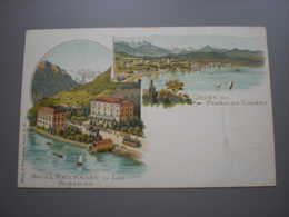 PARADISO LUGANO - HOTEL REICHMAN AU LAC - LITHO - TI Tessin