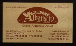 TARJETA DE VISITA PARRILLA ALBARRACIN. COCINA ARAGONESA.. - Tarjetas De Visita