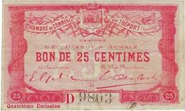 Billet De Commerce Chambre  Le Treport Bons De 25 Centimes  Cantons D'eu, Blangy Sur Bresle Et Aumale - Chambre De Commerce