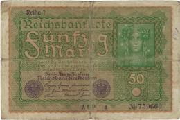 Billet De Banque Allemagne  50 Reichbanknote - [ 3] 1918-1933 : República De Weimar