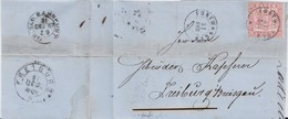 Baden Mi 18 K2 Furtwangen Bf N Freiburg Rs Bahnpost 1867 - Bade