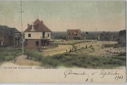 Westende.   -   Plage De Westende.  -   Cottages Dans Les Dunes,   -   1903   Naar   Coq Sur Mer - Westende