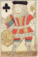 CARTE A JOUER ANCIENNE XVIII ème 18 ème Playing Card - Valet De Trèfle - Cartes à Jouer Classiques