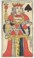 CARTE A JOUER ANCIENNE XVIII ème 18 ème Playing Card - Roi De Pique - Playing Cards (classic)