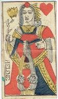 CARTE A JOUER ANCIENNE XVIII ème 18 ème Playing Card - Dame De Coeur - Playing Cards (classic)