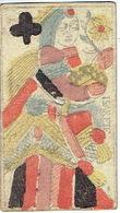 CARTE A JOUER ANCIENNE XVIII ème 18 ème Playing Card - Dame De Trèfle - Playing Cards (classic)