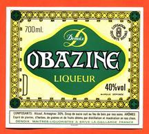 étiquette Liqueur Obazine Denoix à Brive La Gaillarde - 70 Cl - Autres
