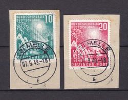 BRD - 1949 - Michel Nr. 111/112 - Gest. - 45 Euro - [7] Federal Republic