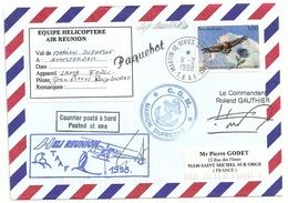 YT 3054 Aigle Royal - Posté à Bord Du MD - Hélicoptère Air Réunion - Martin De Viviès - St Paul Amsterdam - 11/02/1998 - Francia