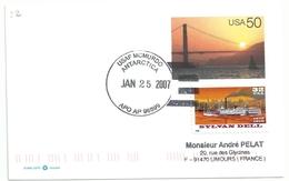 Entier Postal - YT 2535 Bateau Sylvan Dell - Base Mac Murdo - 25/01/2007 - Lettres & Documents