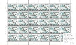 NN - [99940]TB//**/Mnh-NN - Belgique 1963 - N° 1259, Caravelle 6, SABENA, La Feuille Complète, N° Planche 4, Avions, Tra - Avions