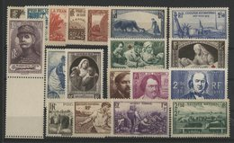 1940 ANNEE COMPLETE ** (MNH). Cote 207 €. 19 Timbres N° 451 à 469. TB. - 1940-1949