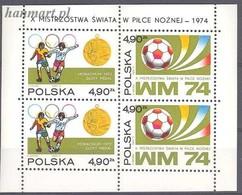 Poland 1974 Mi Bl 59 MNH ( ZE4 PLDbl59 ) - 1974 – Allemagne Fédérale