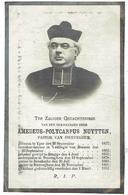 Amedeus Polycarpus NUYTTEN -°Yper 1837 - Sweveghem 1912 - Leraar Meenen - Pastoor Bovekerke - Pastoor Sweveghem - Devotion Images