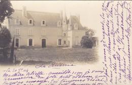 49 .FENEU. CARTE PHOTO. CHÂTEAU. DE LA QUERRIE ANNÉE 1904 + TEXTE - France
