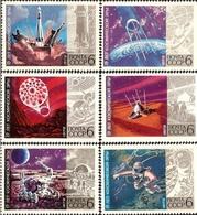 USSR Russia 1972 15th Anniversary Cosmic Era Space Lunokhod Vehicle Moon Mars Sputnik Venera Venus Stamps MNH - Space