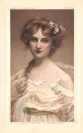 Illustrateurs - N°64077 - Genre Mucha - Tête D'Etude Mädchenkopf - Jeune Femme Avec Des Fleurs Dans Les Cheveux - Mucha, Alphonse