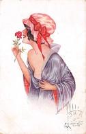 Illustrateurs - N°64082 - X. Sager - Les Matinales Série N°68 N°359 - Jeune Femme Sentant Une Rose - Sager, Xavier