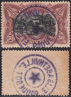 """Congo Belge - Timbre Cob N°69 Oblitéré """"ELISABETHVILLE PAQUEBOT"""" En Bleu. (RD428)DC5941 - Belgian Congo"""