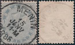 "Belgique - COB N°39, Oblitération Simple Cercle ""Menin"".  (RD436) DC5949 - 1883 Leopold II"