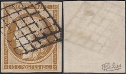France - Yvert # 1 Oblitéré ; Signé CALVES (RD453) DC5966 - 1849-1850 Ceres