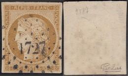 France - Yvert # 1 Oblitéré ; Signé Calves ( RD454) DC5967 - 1849-1850 Ceres