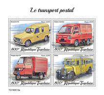 TOGO 2019 - Mail Transport: Renault, Subaru. Official Issue - Autos