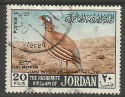 Jordan - 1968 Sand Partridge 20f Used   Sc 555 - Jordan