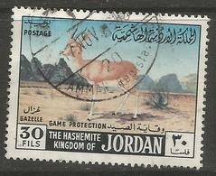 Jordan - 1968 Mountain Gazelle 30f Used   Sc 556 - Jordan