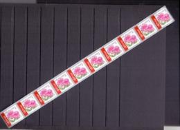 Belgie - 2004 - OBP - **  Rolzegel 110 - Strook Van 10 - Impatiens - Vlijtig Liesje -  Bloemen -  Andre Buzin - Coil Stamps