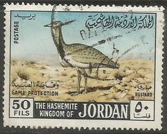 Jordan - 1968 McQueens Bustard 50f Used   Sc 558 - Jordan